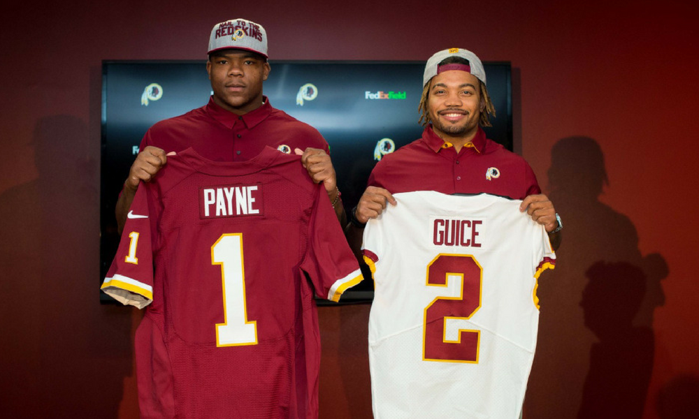 Derrius Guice finally snapped up by Redskins after big draft drop